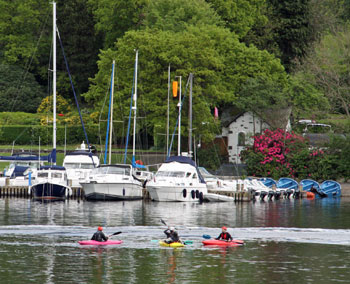 Canoeing on Lake Windermere