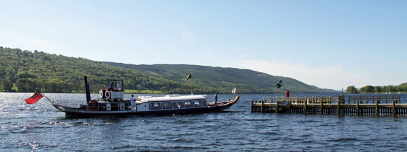 Ride the steam gondola on Lake Coniston